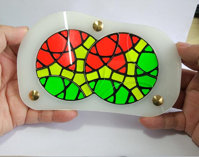 Marca Nueva VeryPuzzle Mini Geranio Plus Cubo Mágico Rompecabezas En Stock Alta Calidad de Edición Limitada Juguetes Educativos Envío de La Gota