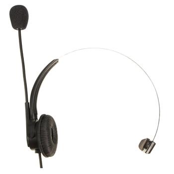 RJ11 Crystal Head telephone Headset  with miniphone