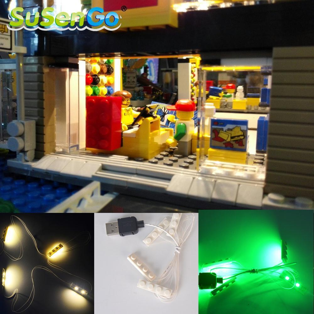 SuSenGo LED Light Kit DIY Свет Для Дома Модель Аксессуар Кирпичи загораются Игрушки Украсить Классический Бренд Строительные Блоки