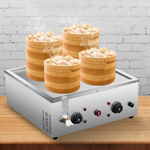 Electric Food Steamer Desktop Steamed Buns Machine Insulation Steaming Heating Pot Commercial Steamer Equipment G1904019