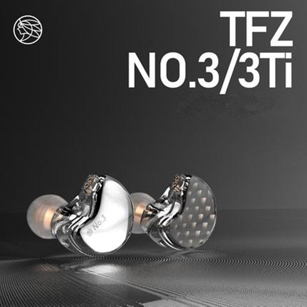A Cítara Fragant TFZ NO. 3 Unidade de Terceira Geração de Alta Fidelidade Em fones de Ouvido Fone de ouvido do Monitor Destacável de Driver Dinâmico IEM com 2pin cabo