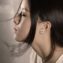 SUNDRUM 999 sterling silver handmade stud earrings set flower earrings for women brand earrings jewelry earrings ethnic