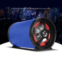 5 inch 12V24V220V Car Active Bluetooth Subwoofer Speakers Audio Stereo HiFi Motorcycle Auto Truck Sub Bass Woofer TF USB Support