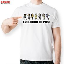 EATGE Evolution Of Pose Tshirt Michael Jackson Fashion Funny T Shirt Casual Novelty T shirt
