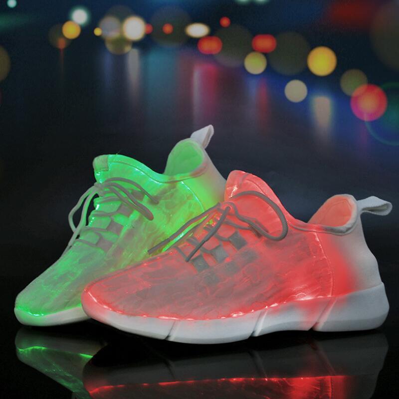 CLOWN CANARDS Enfants Led usb De Charge Lumineux Sneakers Enfants Dentelle-Up Mode Lumineux Chaussures Pour Filles Garçons Femmes Skate chaussures
