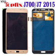 Pantalla LCD TFT de 5,5 pulgadas para SAMSUNG Galaxy J7 2015, digitalizador de pantalla táctil J700F J700M J700H, repuesto de samsung J700 LCD + pegamento