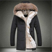 2017 New Long Winter Down Jackets With Fur Hoode Men's Clothing Casual Outwear Thickening Parkas Male Big Coats Free Shipping