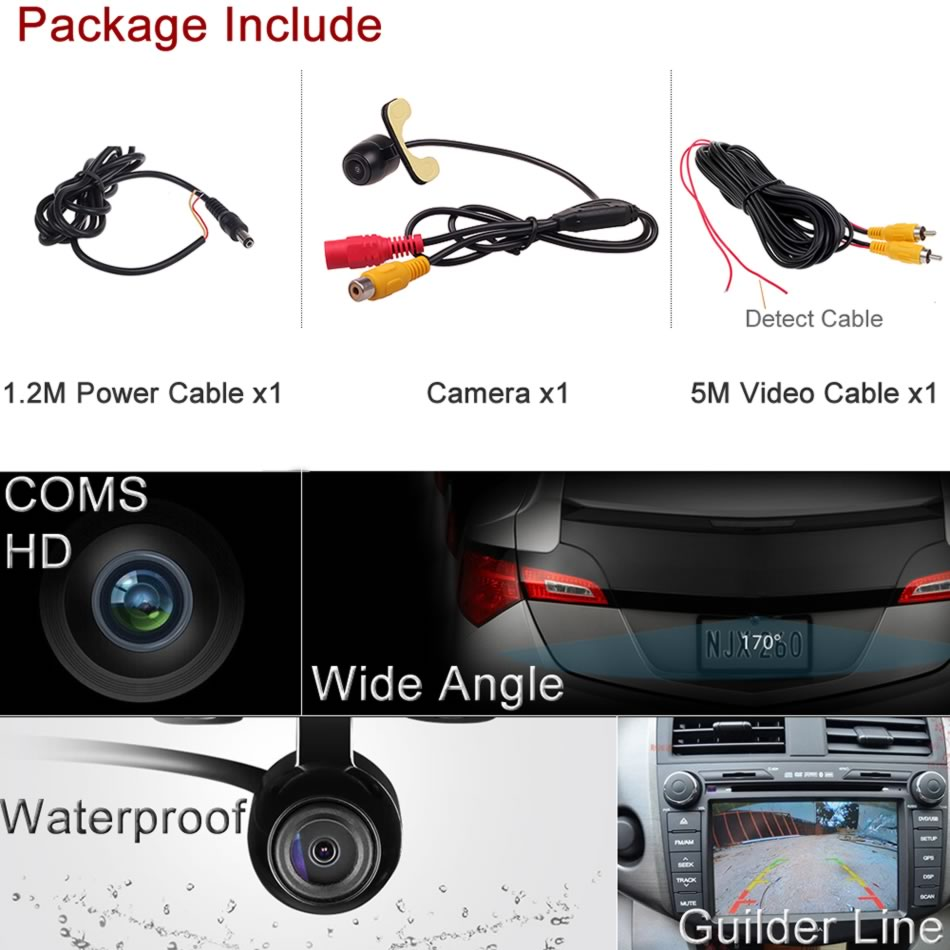 cheapest Free Shipping Car rear view camera for FORD MONDEO FIESTA FOCUS HATCHBACK S-Max KUGA  Auto Reversing Parking Camera