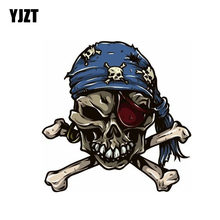 YJZT 12.3CM*12.3CM Pirate Skull Cross Bones Car Sticker Decal Car Accessories 6-0638(China)