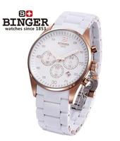Original Geneva Binger Unisex Quartz watch 6 color men women 24 Hour Analog wristwatches Sports Rose Gold Steel watches Dropship