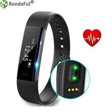 Сердечного ритма трекер SmartBand ID115 Спорт на открытом воздухе Фитнес трекер Smart Браслеты Водонепроницаемый Bluetooth браслет для iOS и Android