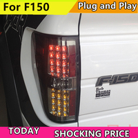 Car styling For For Raptor F150 LED Tail Light for FORD 2008 2014 year Rear Lamp DRL Brake Park Signal led Back light