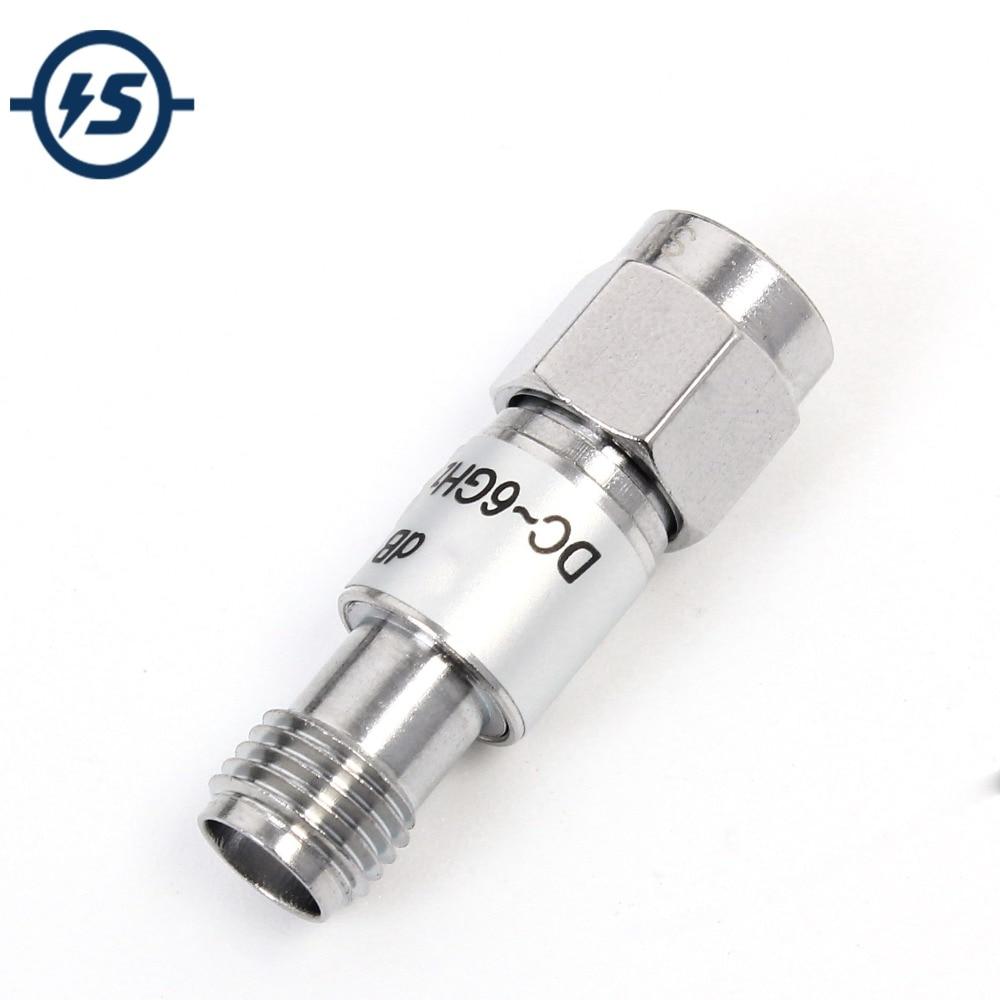 SMA Fixed Attenuator 5dB DC-6 GHz 2W 1dB 50ohm Connector Type SMA-J ~ SMA-K