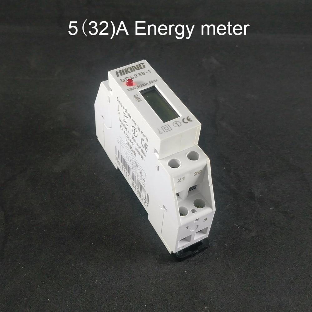 цена на 5(32)A 230V 50HZ Single phase Din rail KWH Watt hour din-rail energy meter LCD