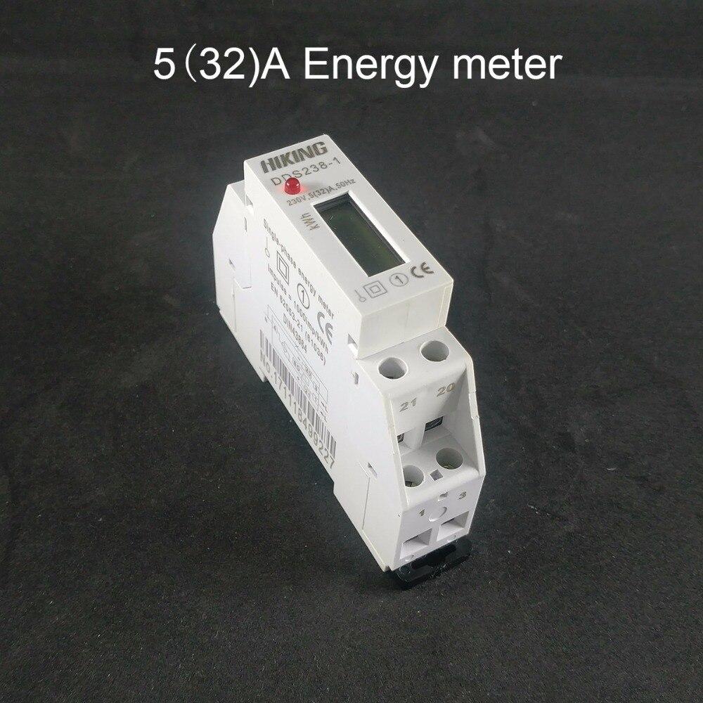 5 (32) Eine 230 V 50 HZ einphasig din-schiene KWH Watt stunde meter LCD
