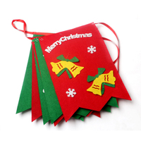 Christmas Elk Bunting Banner Garland Hanging Flags Party Xmas Tree Decor Flag 9 Kinds