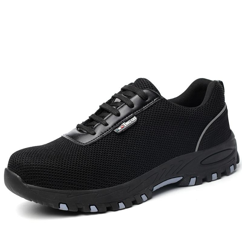 Transpirable Indestructible Anti Los Zapatos Anti Trabajo De Hombres piercing Seguridad Negro Botas aplastamiento qCqBFU