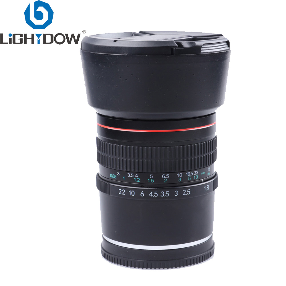 Lightdow 85mm F1 8 Medium Telephoto Portrait Full Frame E Mount Lens for Sony A9 A7R