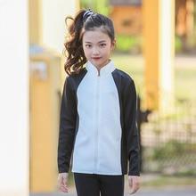 fdd477ad78 Nuevo 2018 de manga larga patchwork béisbol para adolescentes Chaquetas  deportivas niños tops ropa otoño chaqueta para las niñas