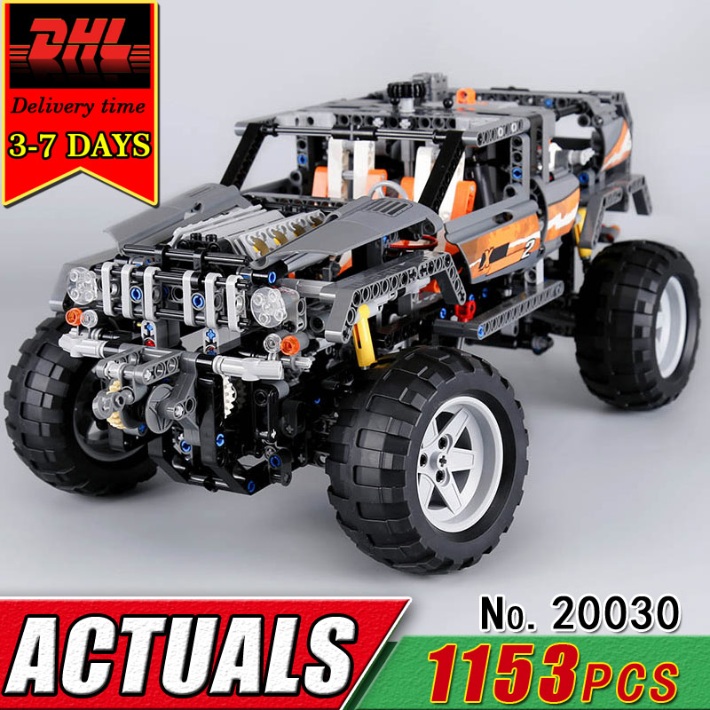 DHL LEPIN 20030 Technic Series The Off-Roader Car Electric Building Blocks Compatible 8297 Children Educational Bricks Toys Gift lepin 20030 1132pcs technik ultimate off roader cars legoingly 8297 sets building nano block bricks toys for boy gifts