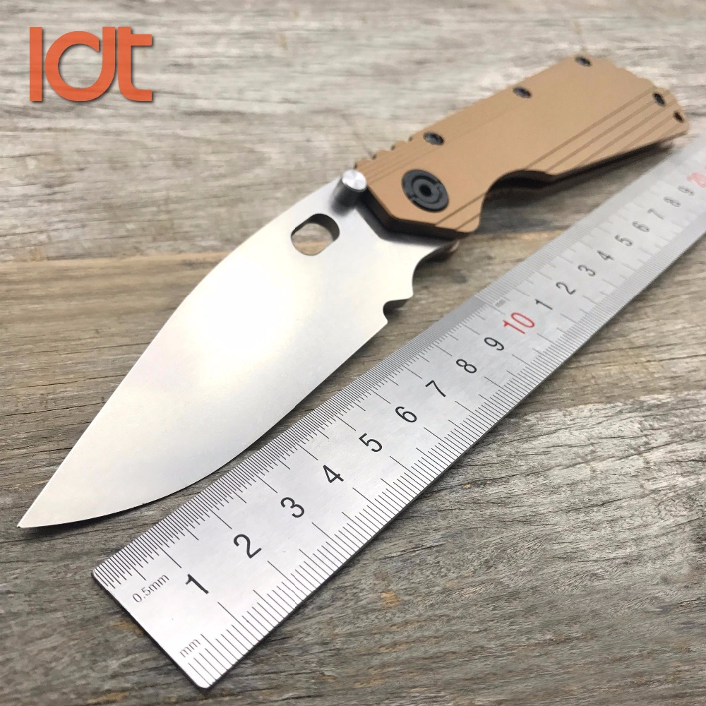 LDT SMF Folding Knife D2 Blade TC4 Titanium Handle Camping Survival Knives Outdoor Hunting Tactical Utility Knife EDC Tools ldt qse 13lt folding knife d2 blade titanium handle knives ball bearing outdoor pocket tactical rescue survival knife edc tools