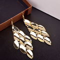 Sale Metal Multi layer Water Drop Earrings Big Gold/Silver Dangle Earrings for Women Fashion Jewelry Gift Free Shipping