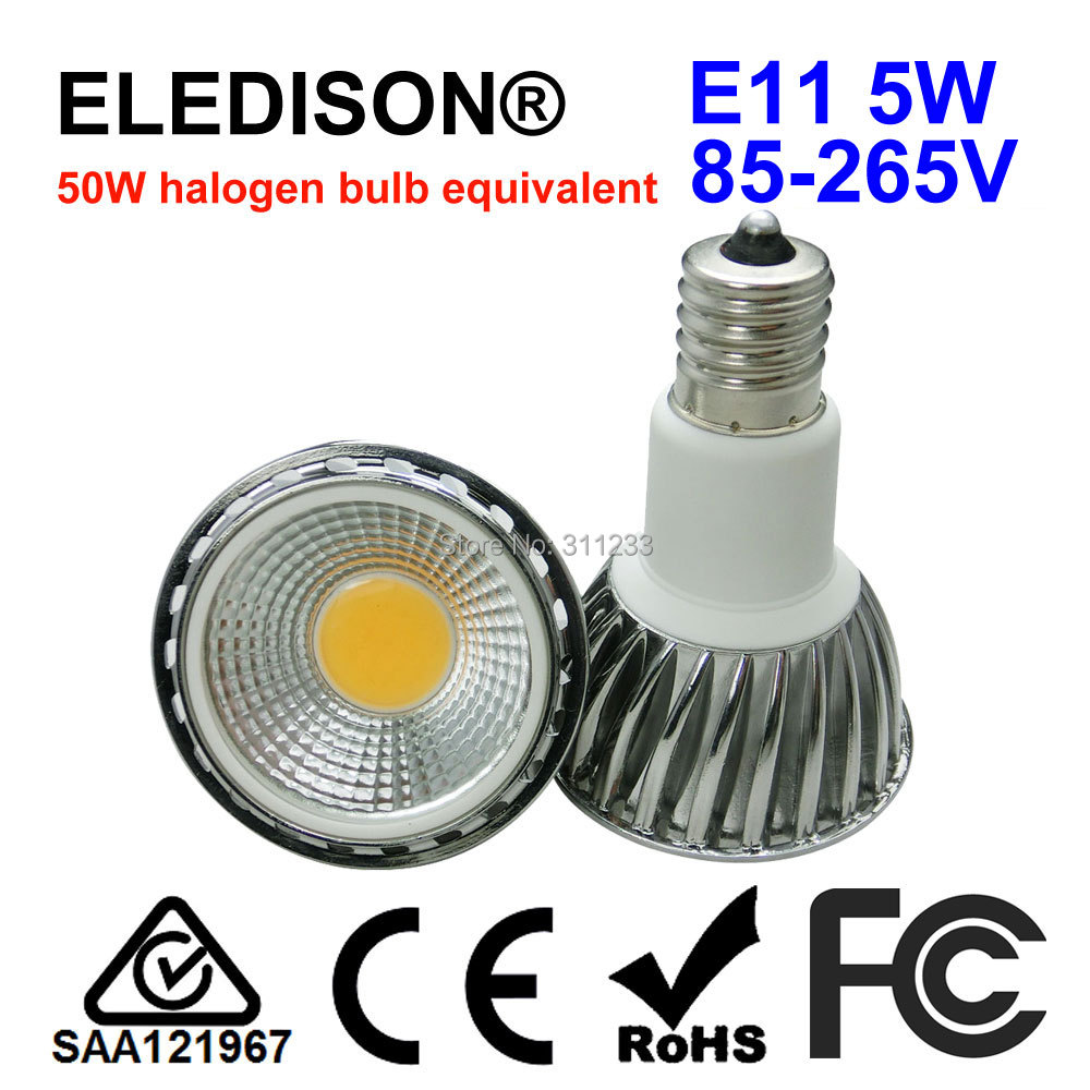 LED Light Bulb E11 5W Mini Screw 50W Halogen Bulb Equivalent 120V 220V 230V 240V Floor Lighting Kitchen Hoods Lighting Bulb