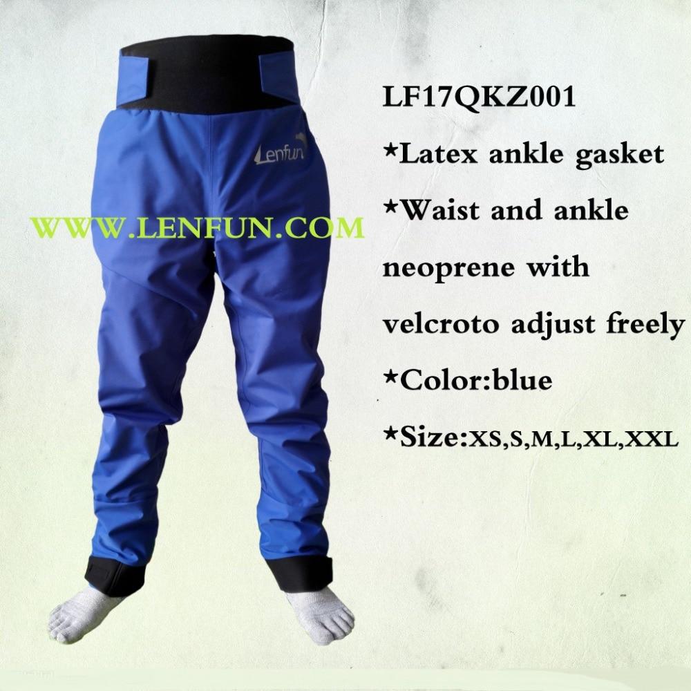 Paddle sec pantalon nautique étanche pantalon de cheville en latex joint pour kayak, voile, caneoing, pêche, canotage, rafting, rafting en eau