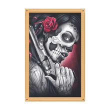 Skull DIY 5D Full Drill Diamond Painting Embroidery Cross Stitch Kit Rhinestone  Home Decor Craft