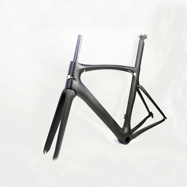 Carbon road bicycle frame broken carbon frame 700C t800 frame +seat ...