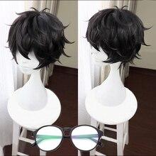 เกม Persona 5 P5 Hero Kurusu Akira สั้นวิกผมสีดำความร้อนทนผมคอสเพลย์ Wigs + Freen หมวกวิกผม