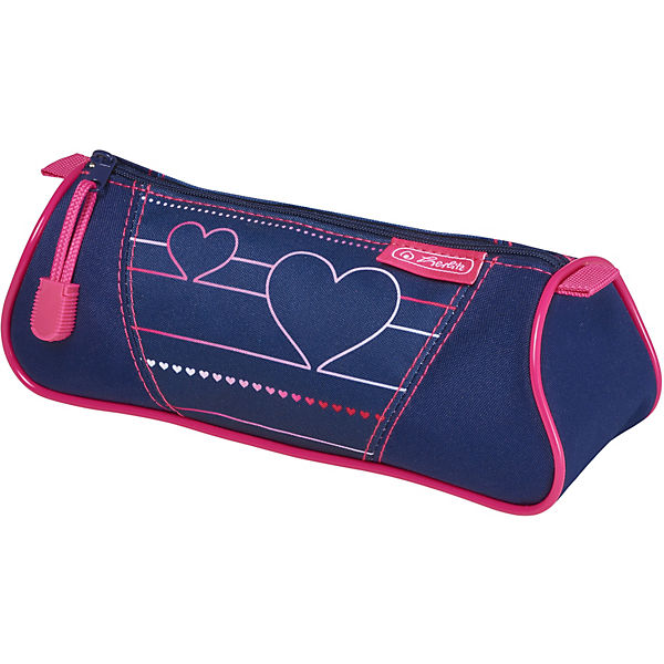 Pencil Case-cosmetic bag Herlitz Triangular, Heartbeat MTpromo