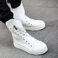 Quality Men Leather Shoes 2017 Winter High Top Solid Lace-up Design Men Shoes Hip Hop Mens Joggers Zapatillas Homme