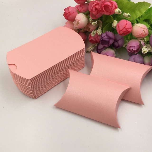 from boxes diy packing color accessory display pillow in pink jewelry gift small lot storage paper item box packaging
