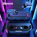 Baseus W01 TWS Bluetooth наушники 5,0 беспроводные Bluetooth наушники стерео Бас Беспроводные наушники с микрофоном для телефона