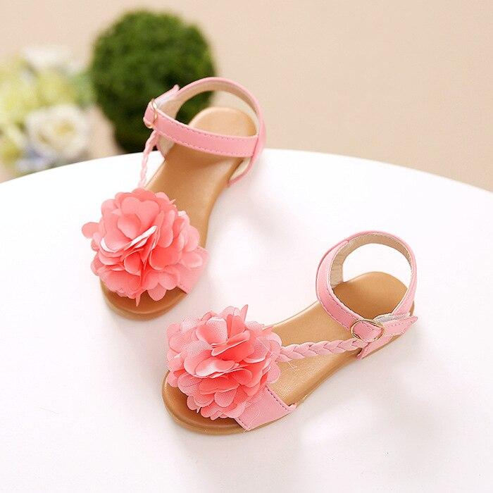2018 new new fashion big flower summer sandals girls shoes children sandals children san ...