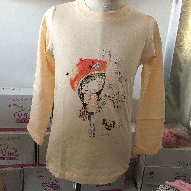 T-Shirt Clothing Tops Litter-Girl Long-Sleeve Autumn Kids for Children's Spring And Pint