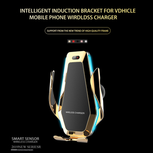 Image 2 - Automatic Clamp Car Wireless Charger with Flowable Light  for Huawei P30Pro Iphone11 XR XS XS MAX Qi 10W Quick Charging Holder