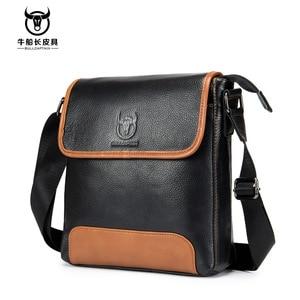 Image 1 - Sac en cuir véritable pour hommes, sacoche pour hommes, sacoche à épaule fashion, sac à main vintage, 2020