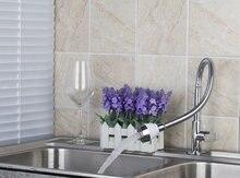 Е-пак ouboni хромированной латуни Кухонная мойка кран Одной холодной водопроводной воды на бортике кухонный кран Torneira