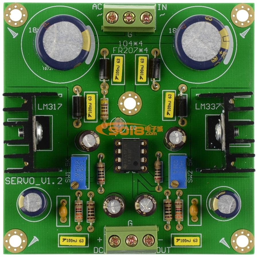 LM317/LM337 DC Servo Adjustable Voltage Regulator Board, Positive and Negative Dual Band Rectification Filter lm317 lm337 dc servo adjustable voltage regulator board positive and negative dual band rectification filter