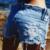 2016 pantalon femme Punk Rave rocha quente Shorts de calças de cintura alta Shorts de Jeans branco buraco Shorts Jeans
