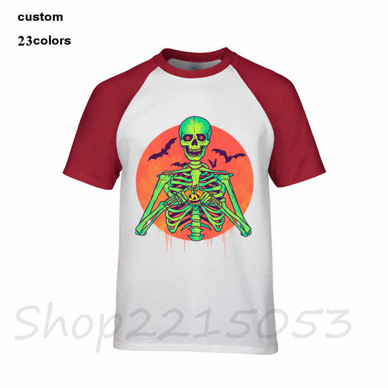 2018 แฟชั่น I Love ฟักทองฮาโลวีนหัวใจโครงกระดูกสนู๊ปปี้ vintage แจ็ค o โคมไฟค้างคาวผู้ชายตลกเสื้อ t ชายหญิงชาย tshirt