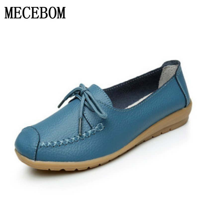 Large size leather Women shoes flats mother shoes girls lace-up fashion casual shoes comfortable breathable women flats 8879W fashion women casual shoes breathable air mesh flats shoe comfortable casual basic shoes for women 2017 new arrival 1yd103