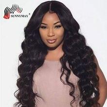 Sunnymay Loose Wave תחרה מלאה שיער אדם פאות ברזילאית הבתולה שיער מראש מותק עם שיער בייבי לנשים