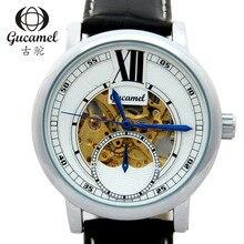 Новая Мода Luxury Brand Gucamel Мужчины Часы Автоматические Механические Часы Полые Мужчины Турбийон бизнес Часы С Оригинальной Коробке