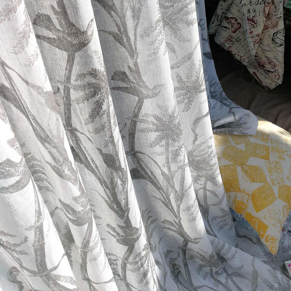 Kids Curtain Fabrics Daffodil Curtains Kids Room Prints Sheer Voile Window Living Room White Tulle Drapes Gray Curtains Fabrics Silk Flower