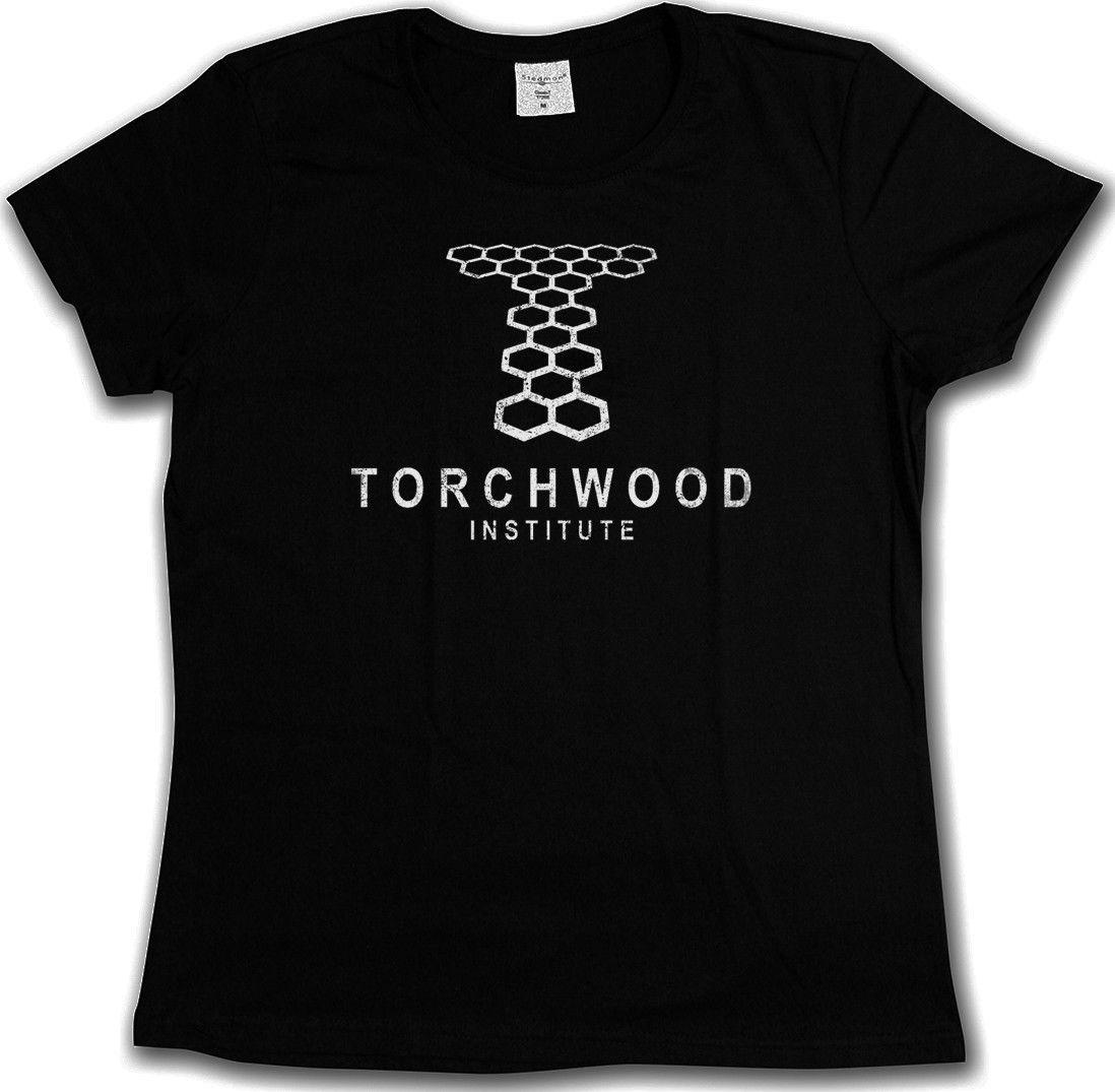 2018 mens fashion T-ShirtVINTAGE TORCHWOOD INSTITUTE LOGO T-SHIRT - SciFi TV Series Doctor Who T-Shirt