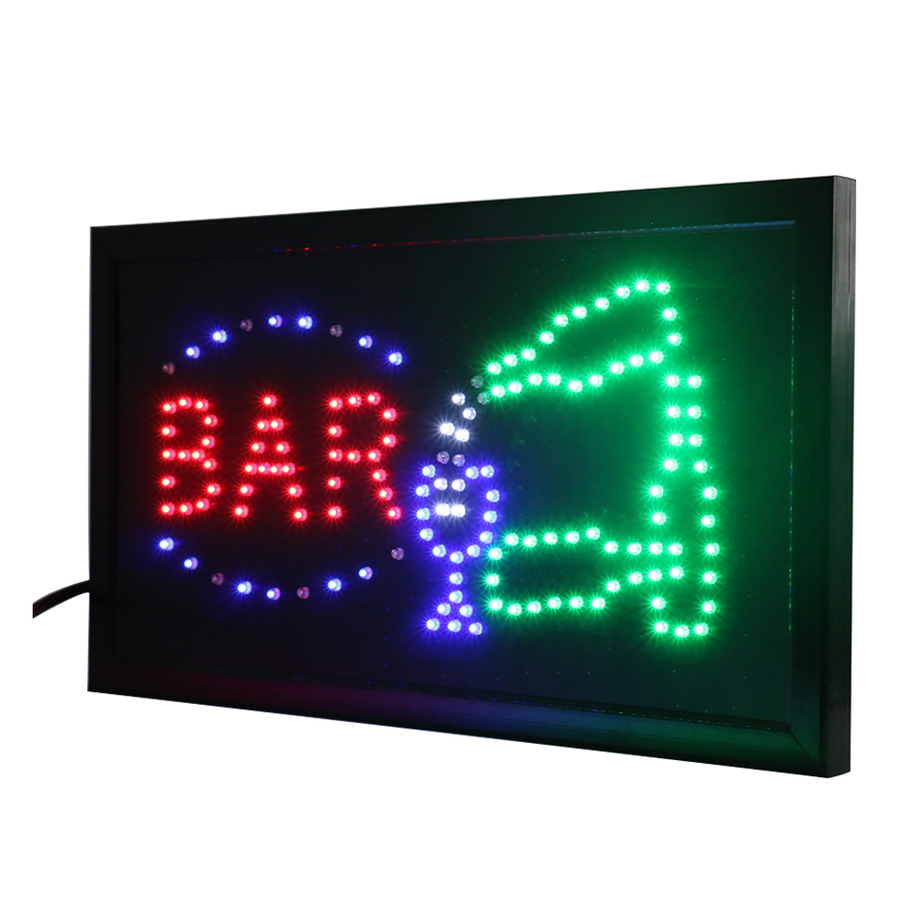 CHENXI Open Bar Led Neon Business Motion Light Sign On/off With Chain Led Sign Board 19*10 Inch Indoor