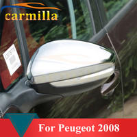 2 pçs/set Espelho Retrovisor Do Carro ABS Chrome Tampa Anti Raspe Etiqueta Guarnição para Peugeot 2008 Ano 2014 2015 2016 Acc.|trim sticker|chrome trim|car trim -